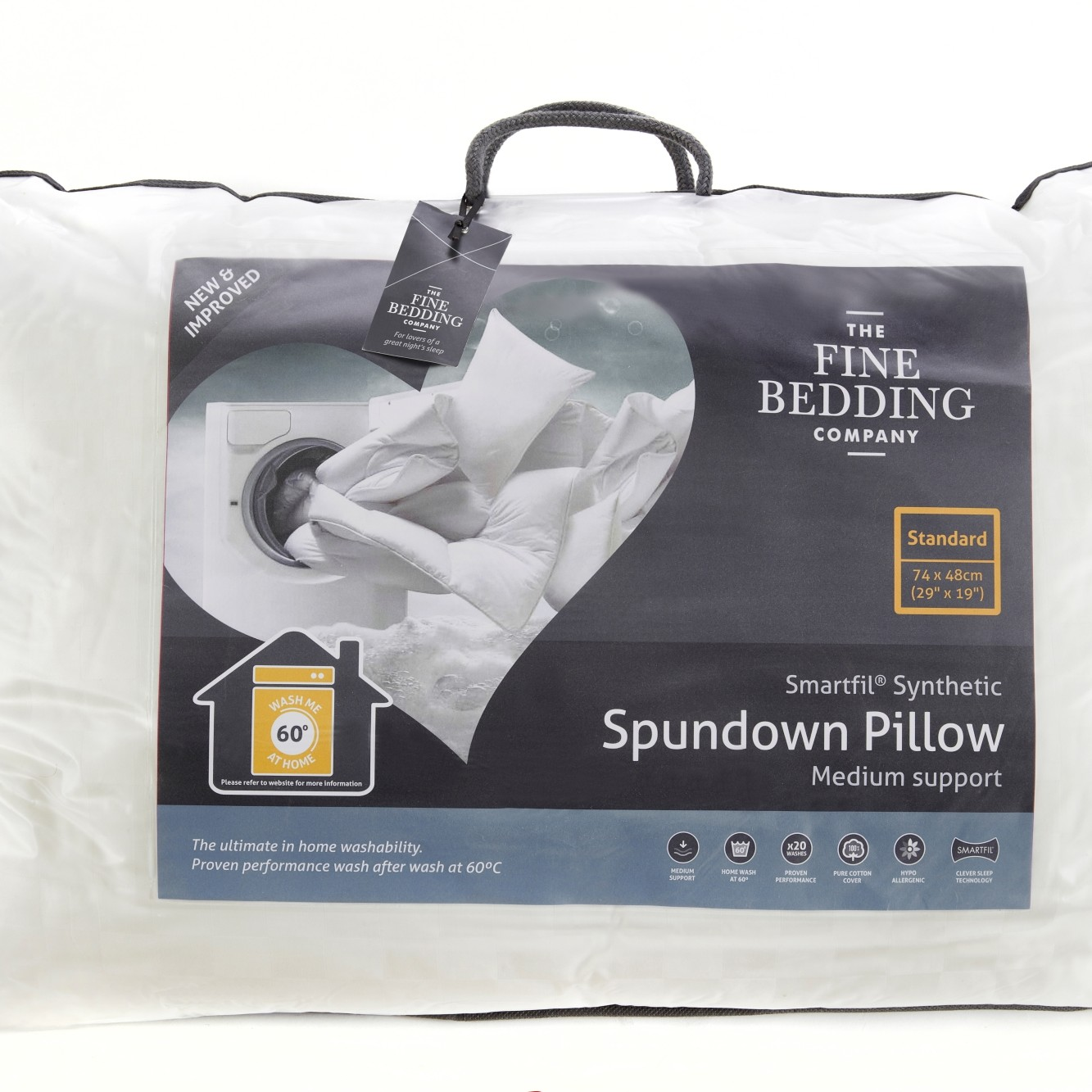 Spundown pillow WHITE/MEDIUM SUPPORT