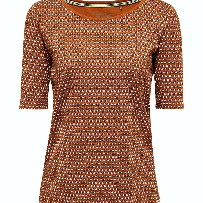 Casual T-shirt Brown