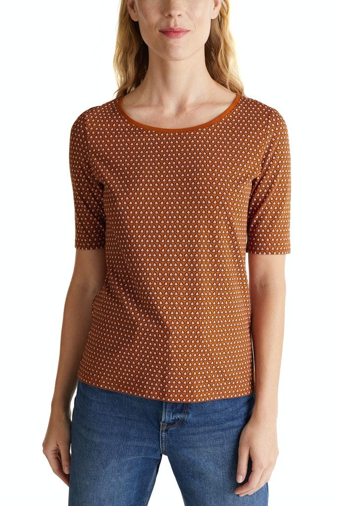 Casual T-shirt Brown