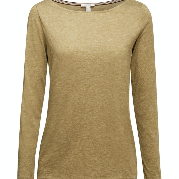 Recycled: long sleeve top with organic cotton Olive