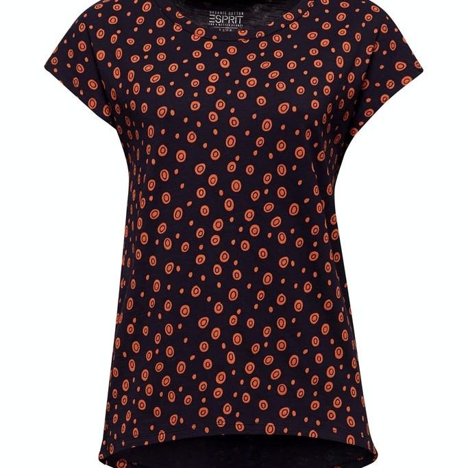 Esprit Filigree Spot Print T-Shirt Navy