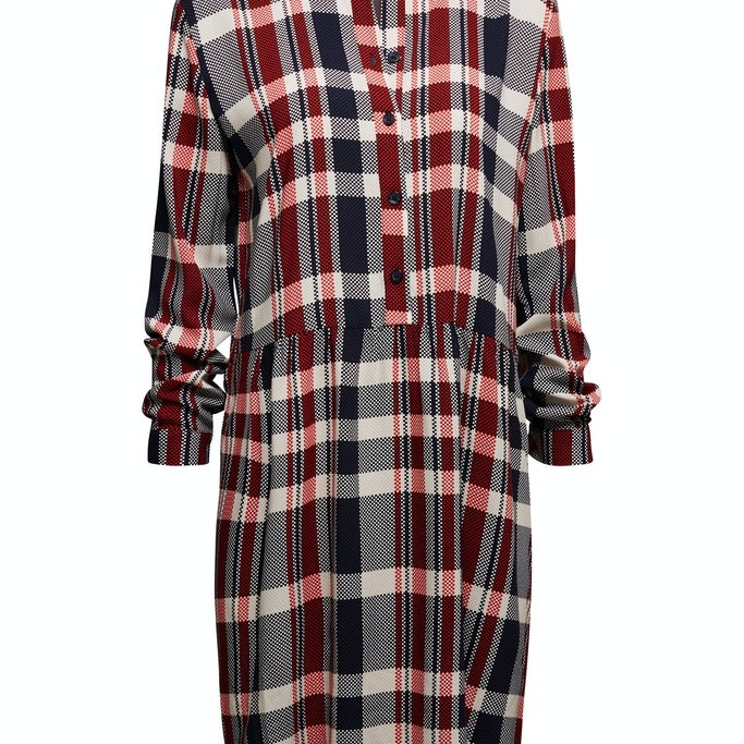 Shirt dress made of LENZING™ ECOVERO™ Navy