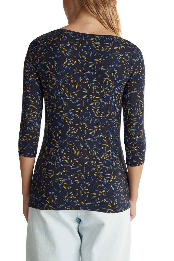 Organic cotton print T-shirt Olive