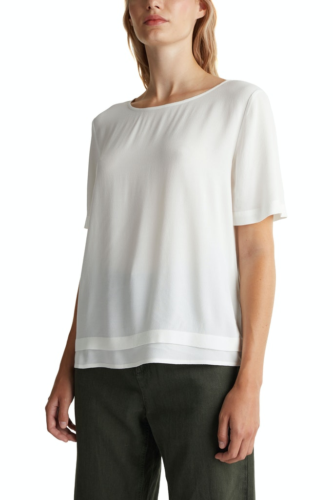 Blouse top made of LENZING™ ECOVERO™ Cream