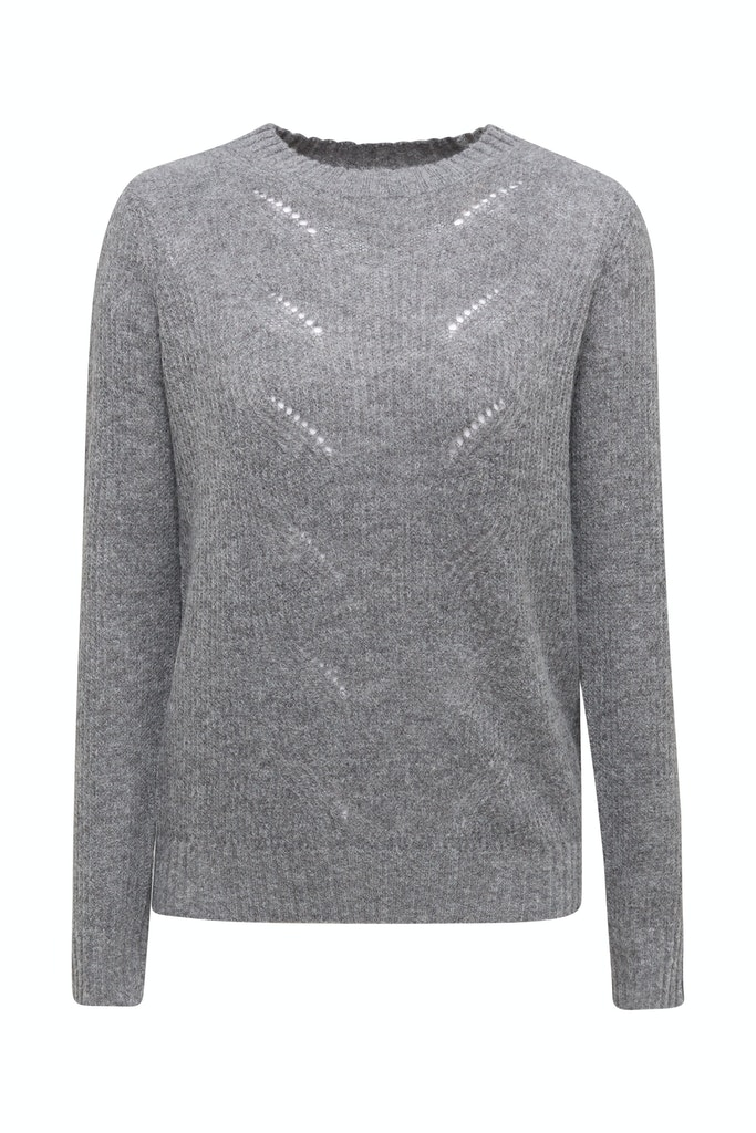 Pointelle jumper with wool  Grey