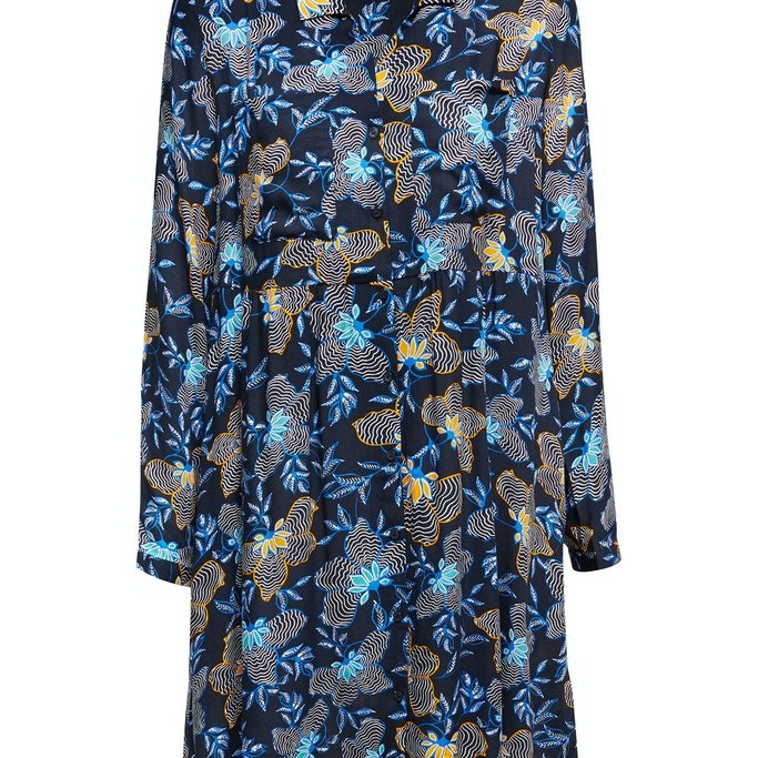 Shirt dress made of LENZING™ ECOVERO™ Navy