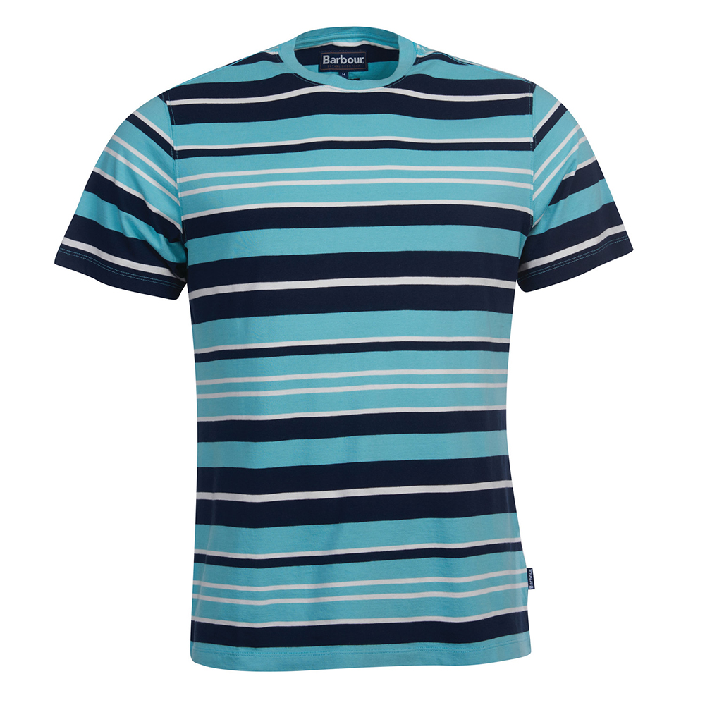 Barbour Port Stripe Te BLUE/XL