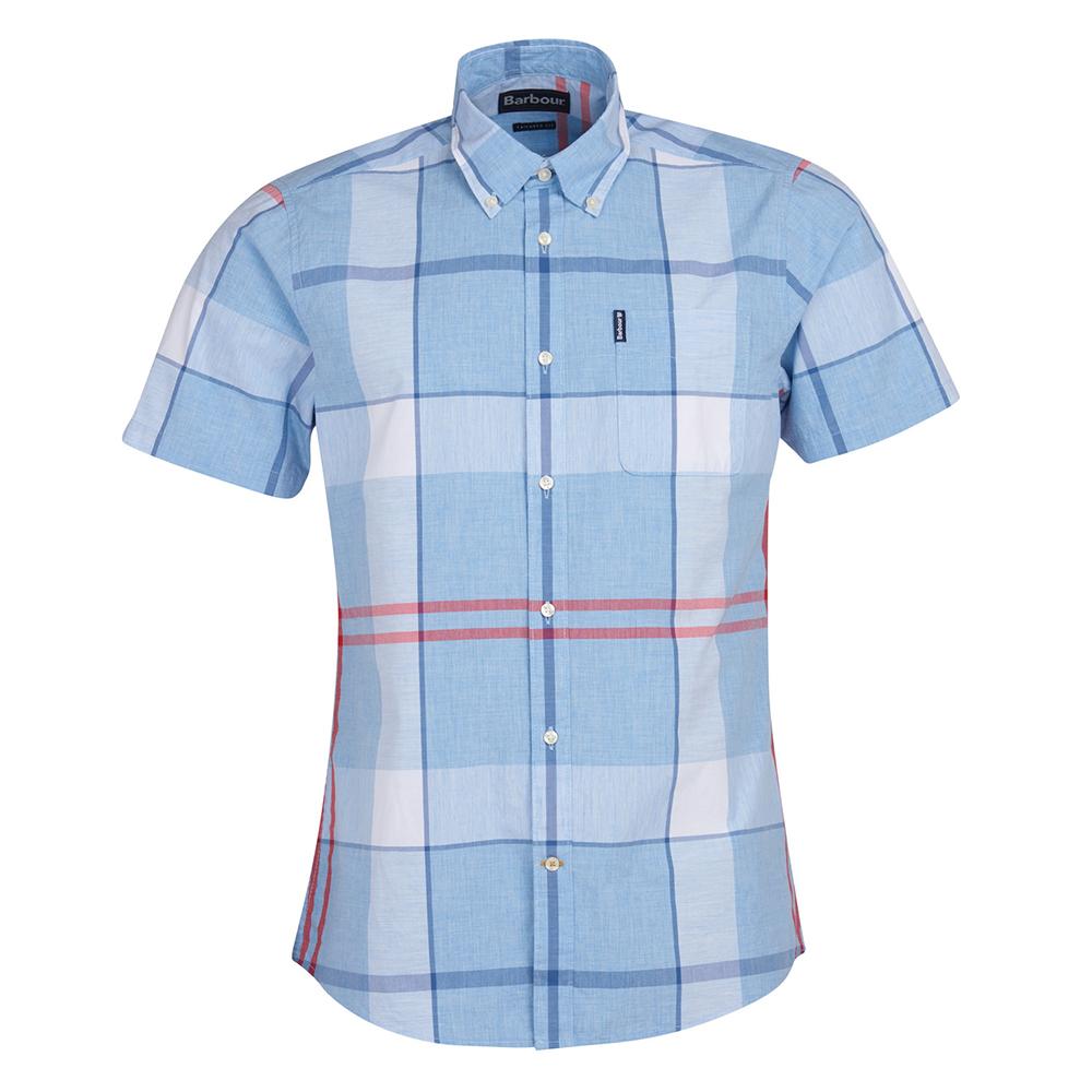 Barbour Croft S/S Shir  LT.BLUE/XL
