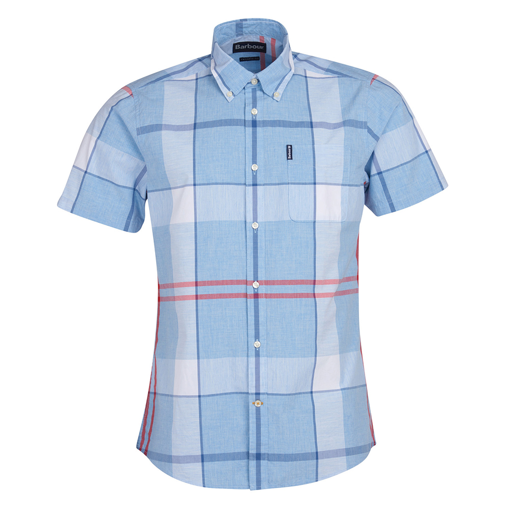 Barbour Croft S/S Shir  LT.BLUE/2XL