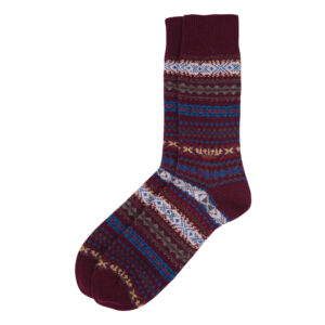 Barbour Boyd Sock     BURGUNDY/LARGE