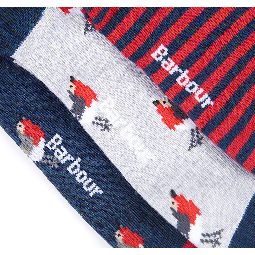 Barbour Robin Socks GB RED/ONE SIZE