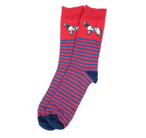 Barbour Dog Sripe Sock Red