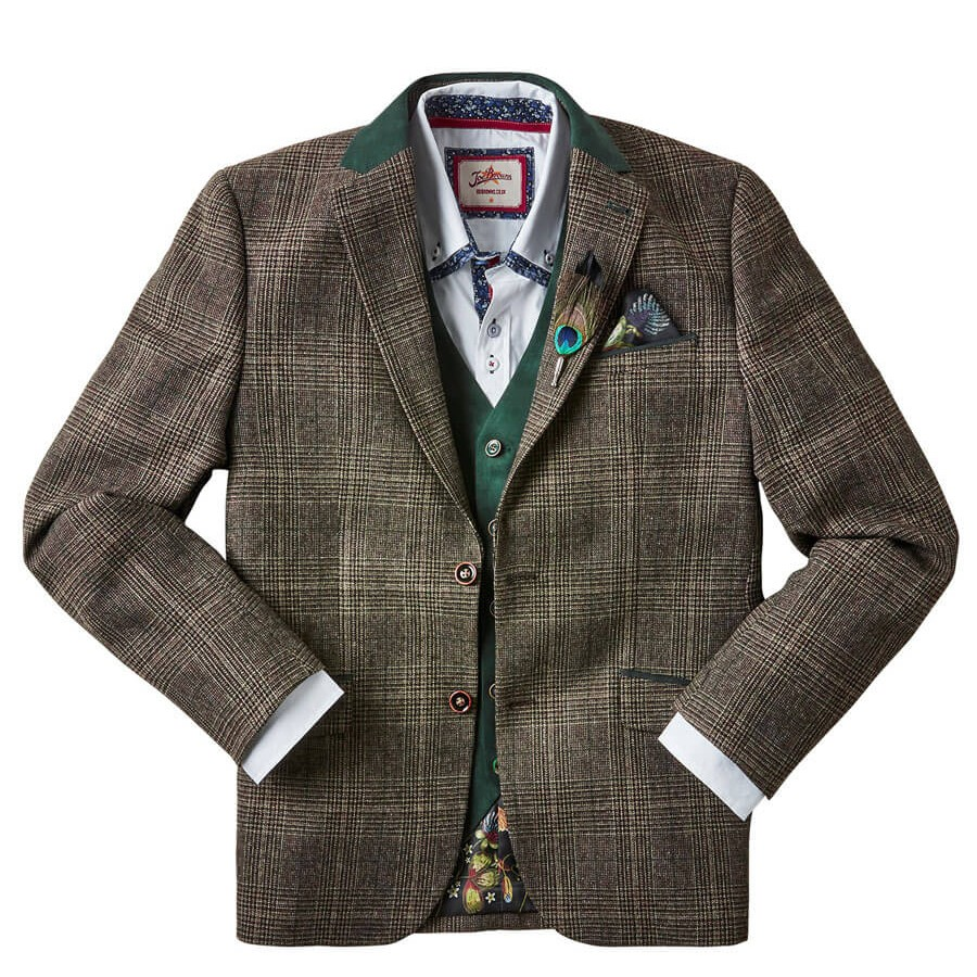 Wonderful Winter Check Blazer green
