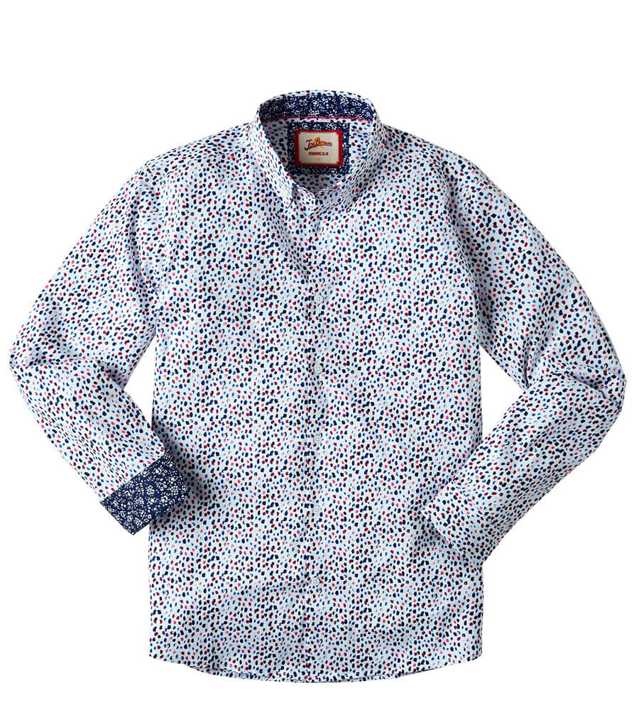 Dynamic Print Shirt White
