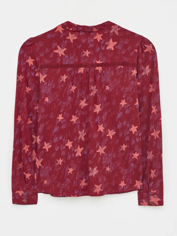 Loganberry Collared Shirt Red