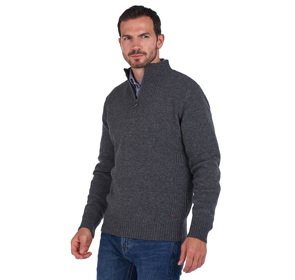 Barbour Nelson Ess   GREY/LARGE