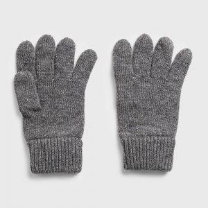 Gant Knitted Wool Gloves Grey