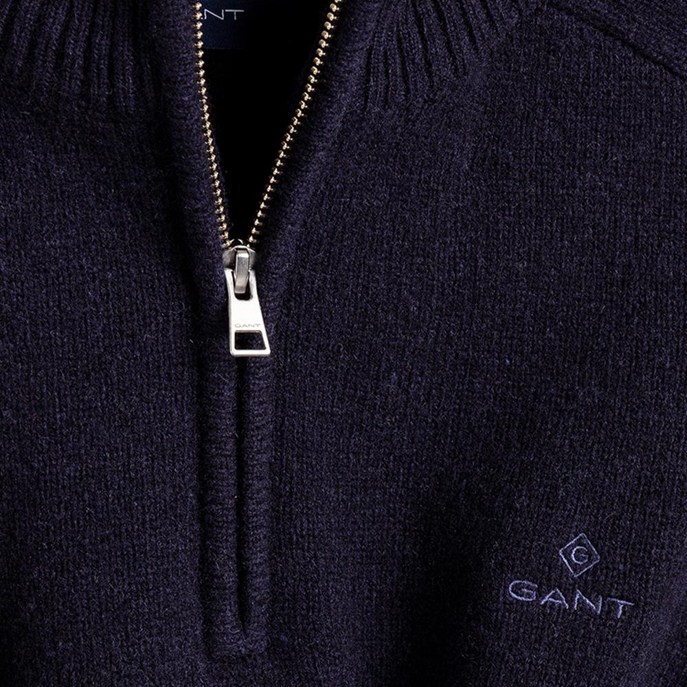 GANT Shetland Half-Zip Sweater Blue