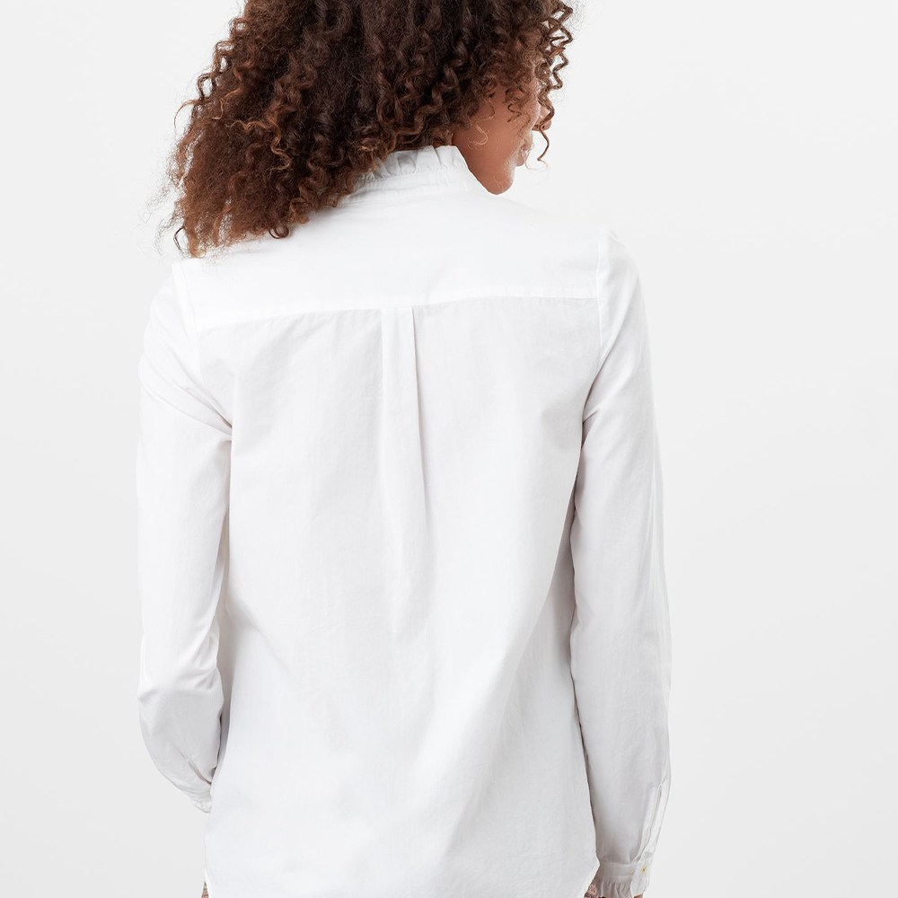 Elma Pie Crust Button Though Shirt White