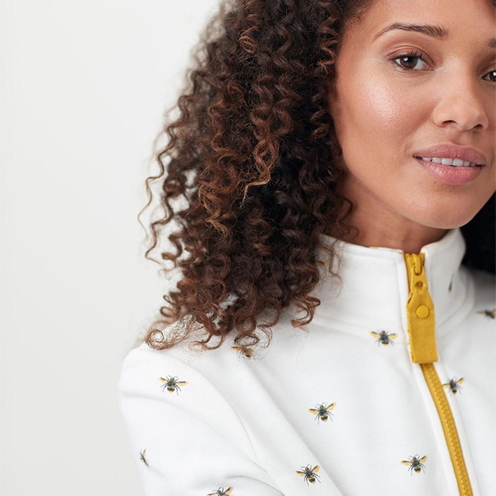 Pip Print Casual Half Zip Sweatshirt Cream