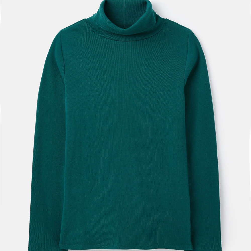 Clarissa Roll Neck Jersey Top Green