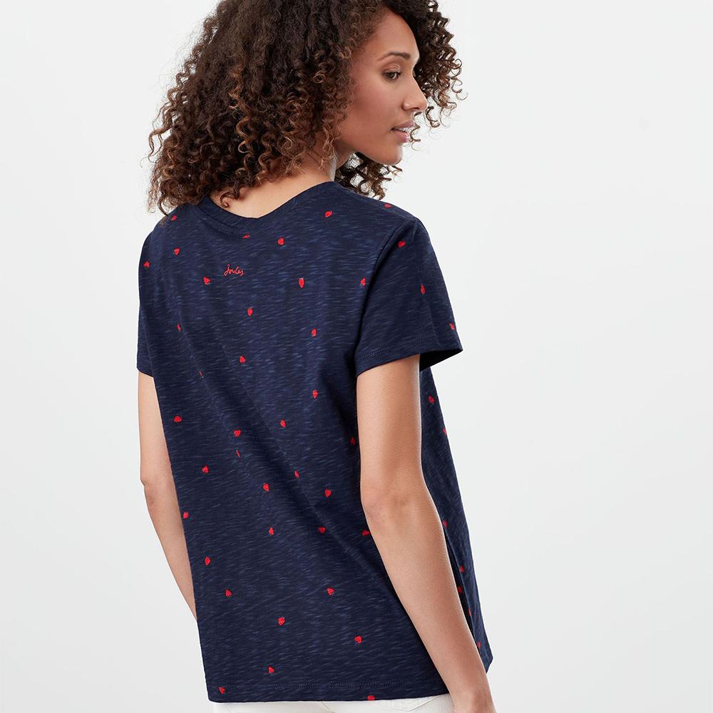 Sofi Print T-Shirt With Pocket Navy
