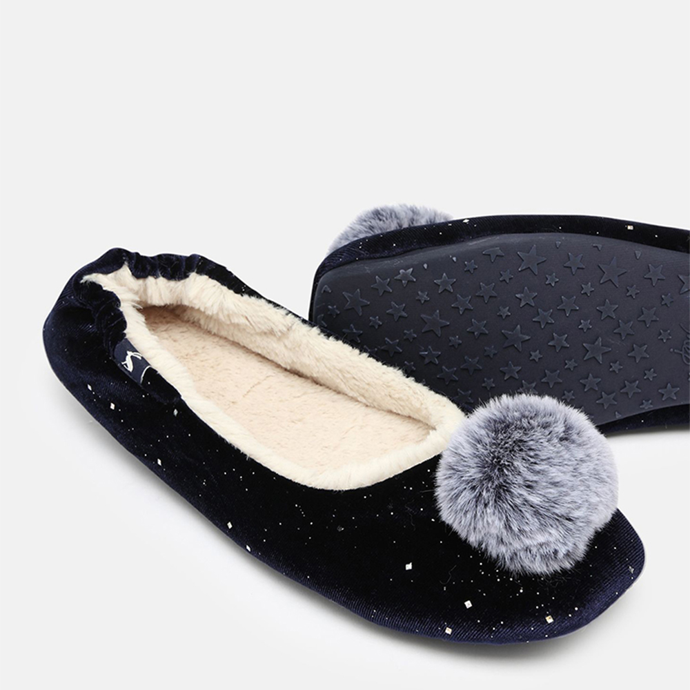 Pombury Ballet Sippers with Pom Navy