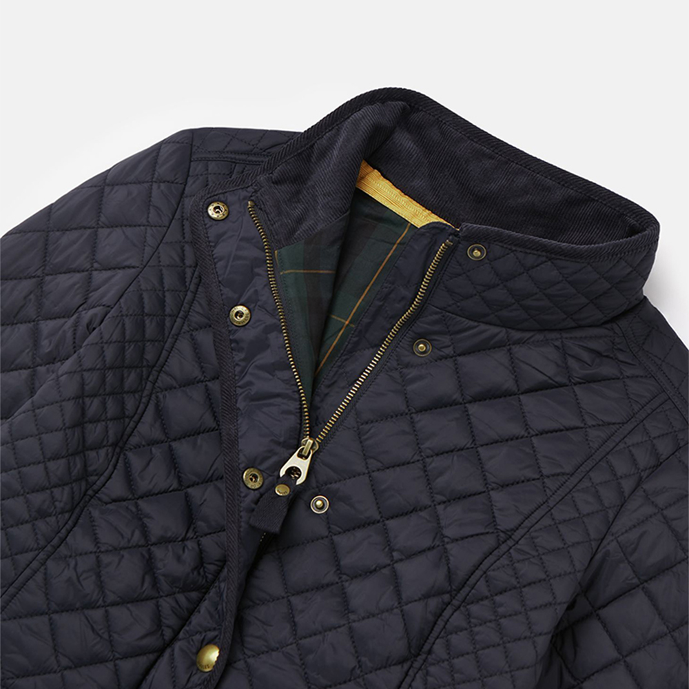 4 Newdale Quilted Coat Navy