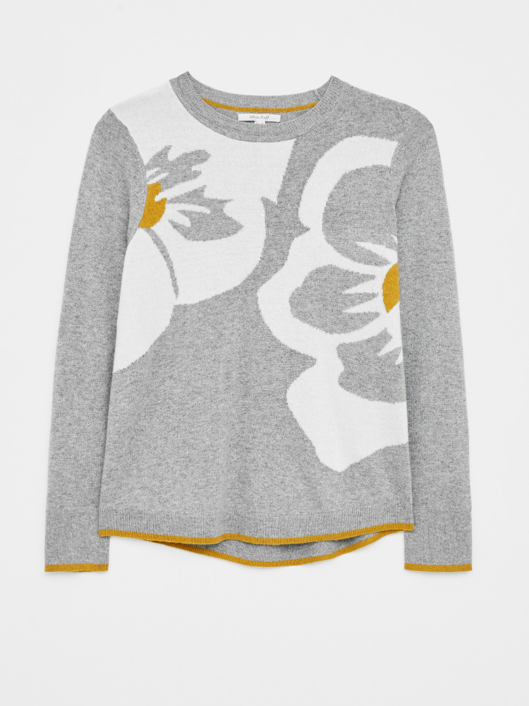 Pretty Pansy Jumper Grey