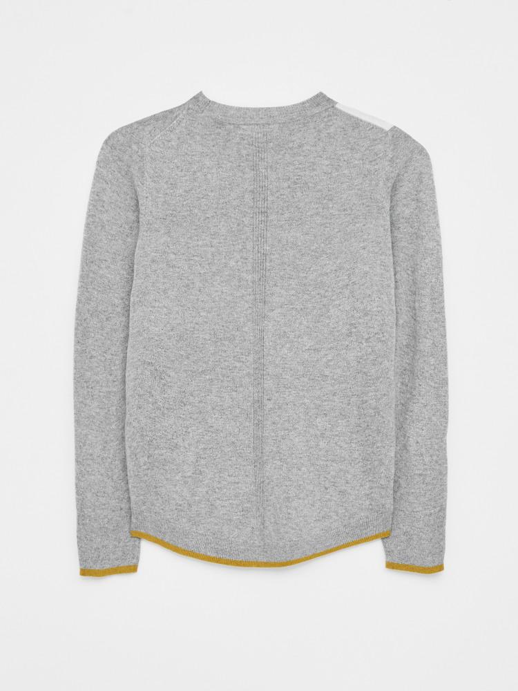 Pretty Pansy Jumper Grey