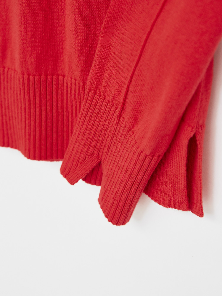 Urban Crew Neck Jumper Red