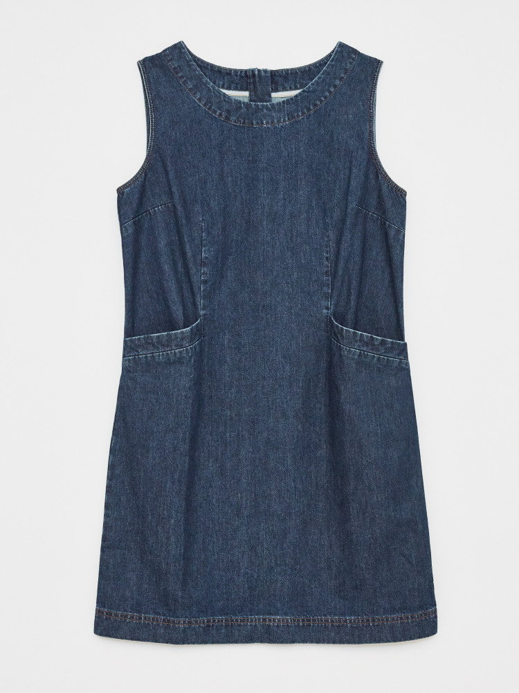 Lothbury Denim Pinafore Dress Denim