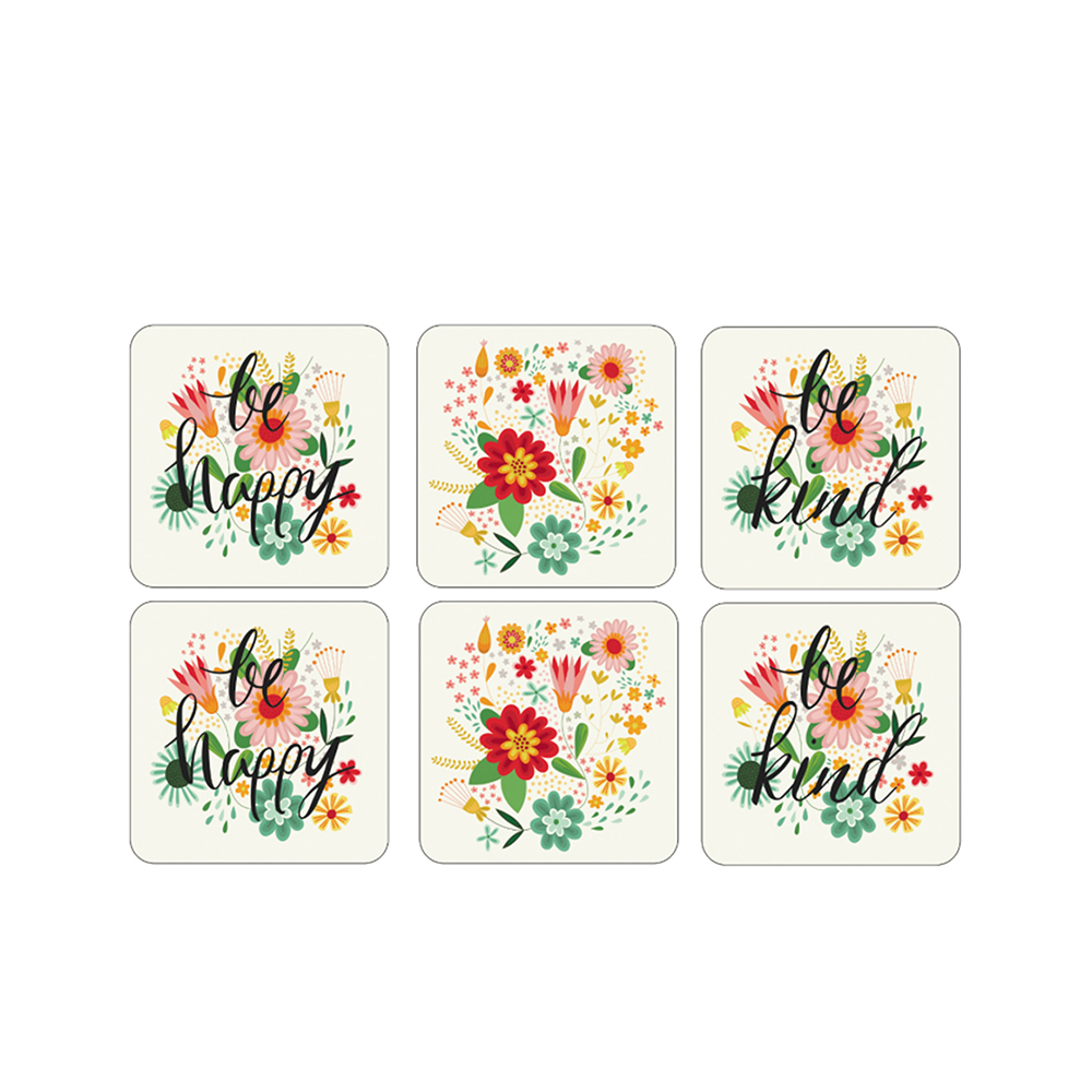 Groovy floral coasters