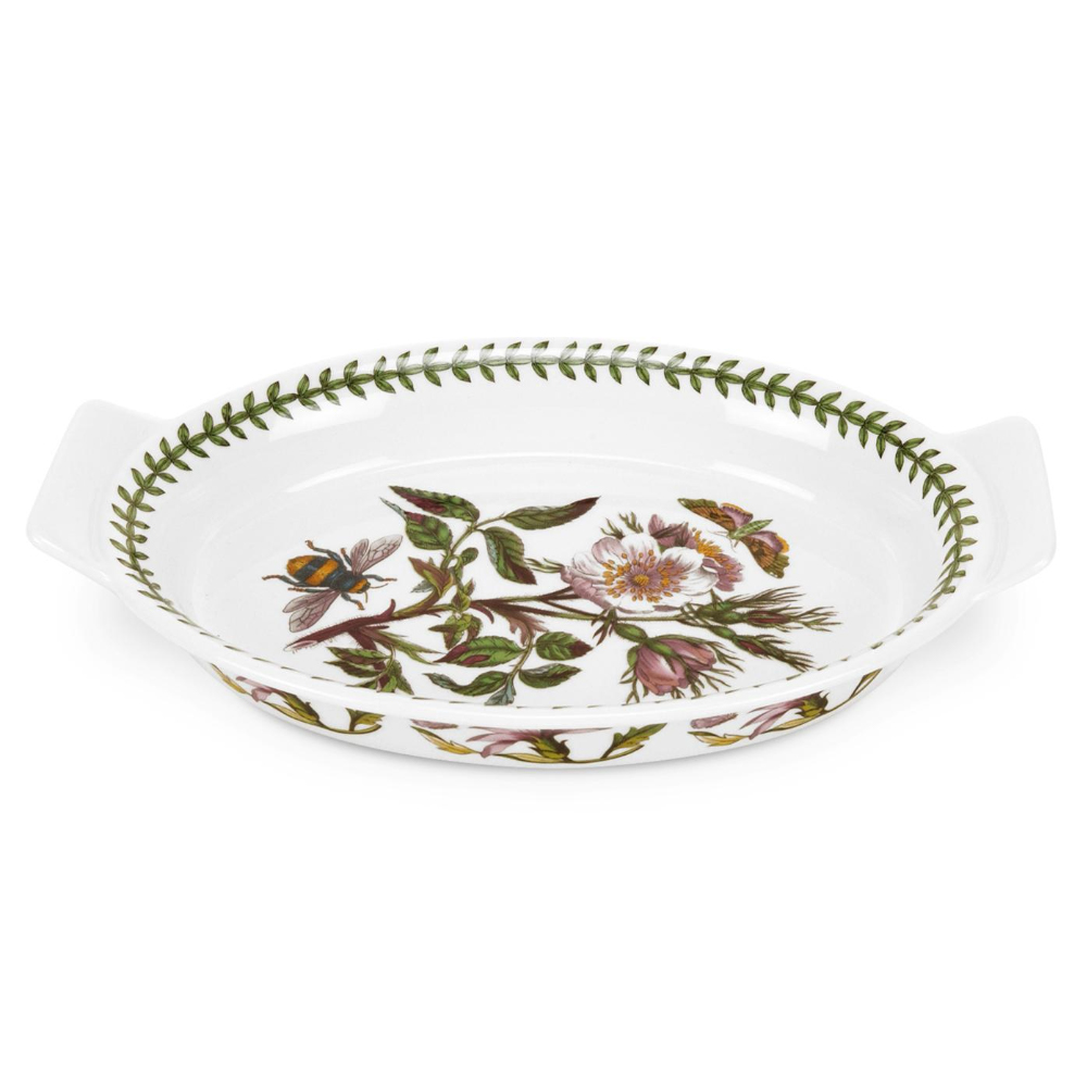 Portmeirion Botanic Garden - Oval Gratin Dish With Dog Rose