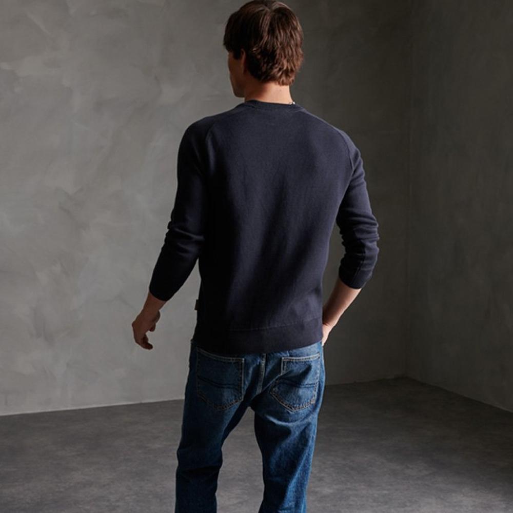 Essential Cotton Crew Sweatshirt Navy