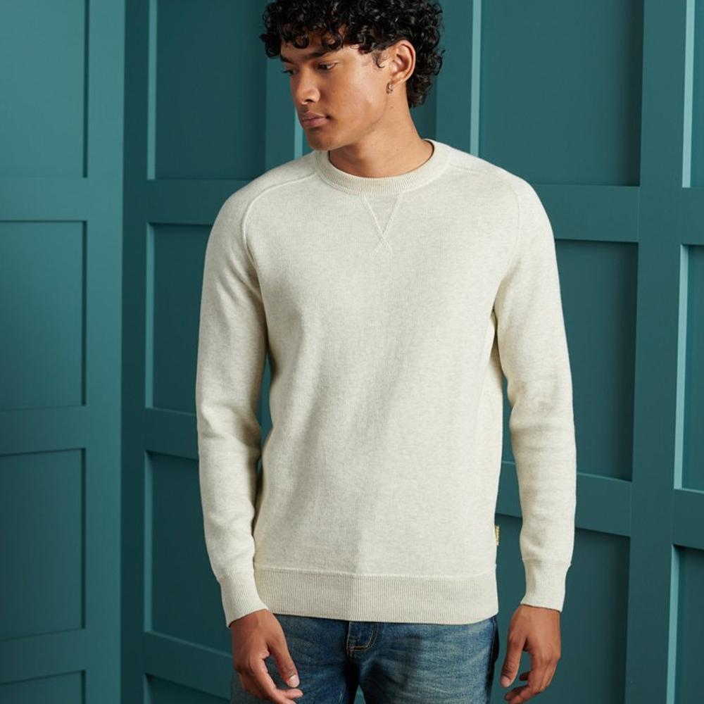 Essential Cotton Crew Sweatshirt White