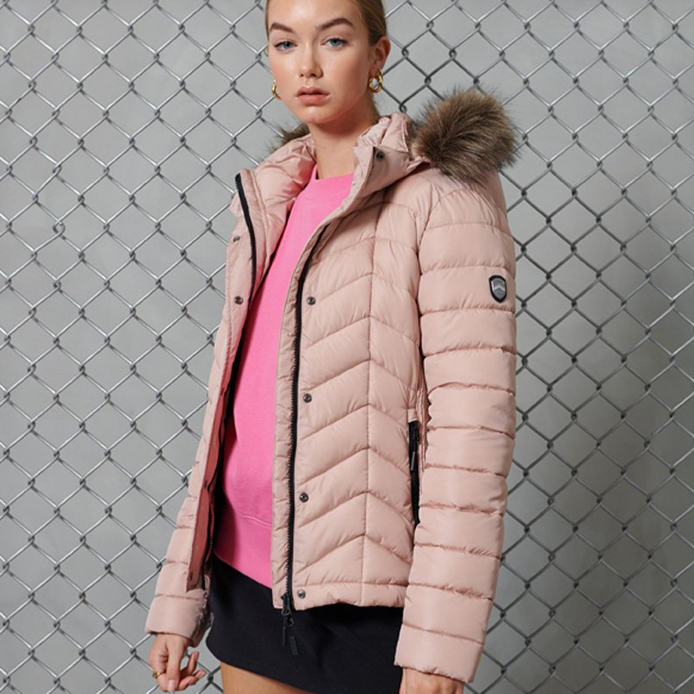Luxe Fuji Padded Jacket Pink