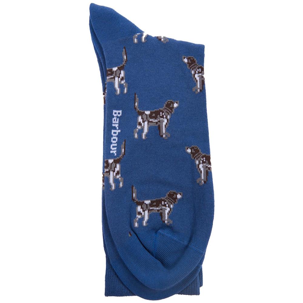 Men's Barbour Pointer Socks Blue