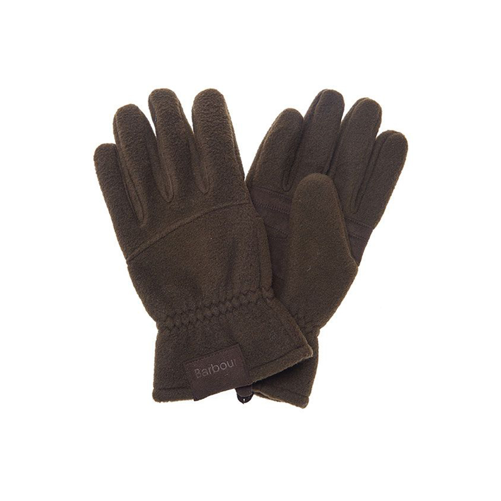 Men's Barbour Fleece Country Gloves Olive