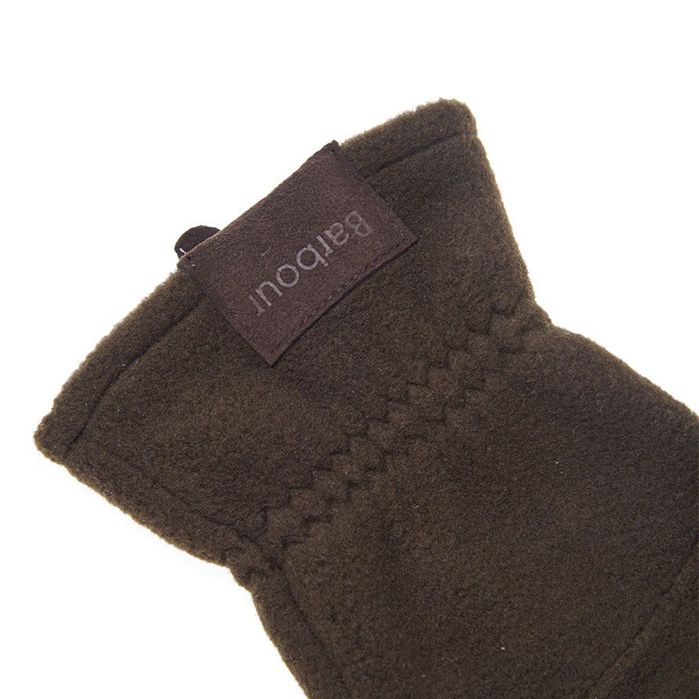Men's Barbour Fleece Country Gloves Olive