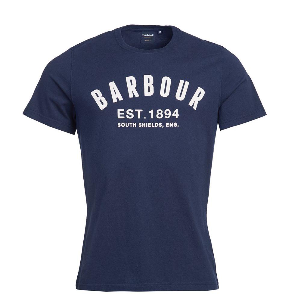 Barbour Ridge Logo Tee Navy