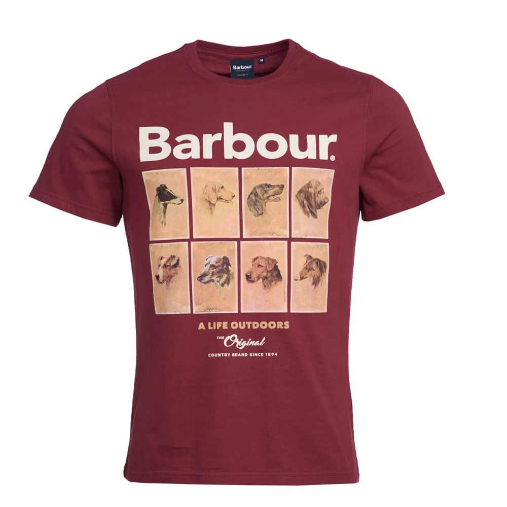Babour Hounds Graphic Tee  Red