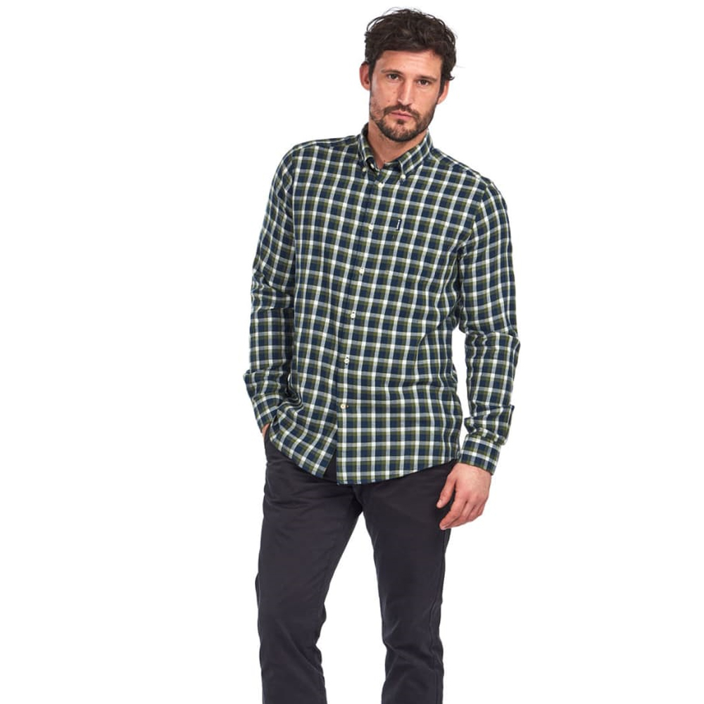 Men's Barbour Eco 2 Tailored Shirt Navy