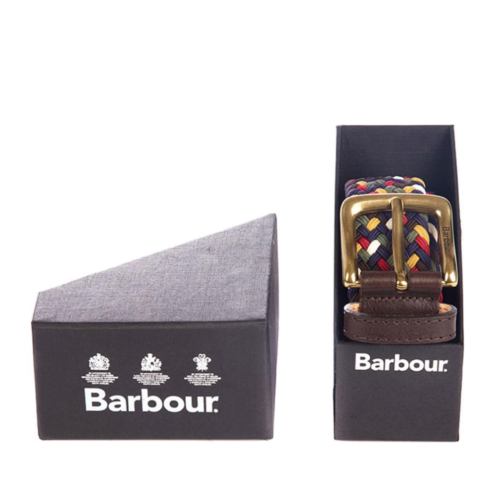 Men's Barbour Tartan Belt Gift Box