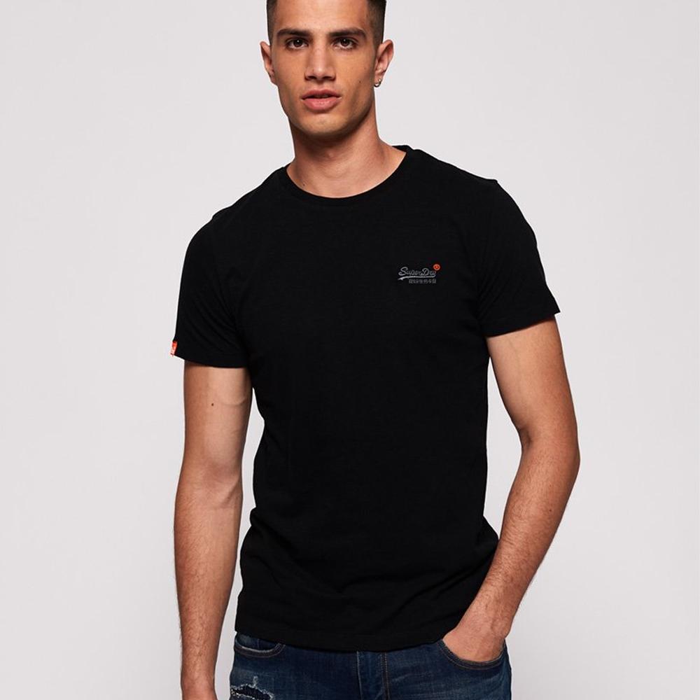 Orange Label Vintage Embroidery T-Shirt black