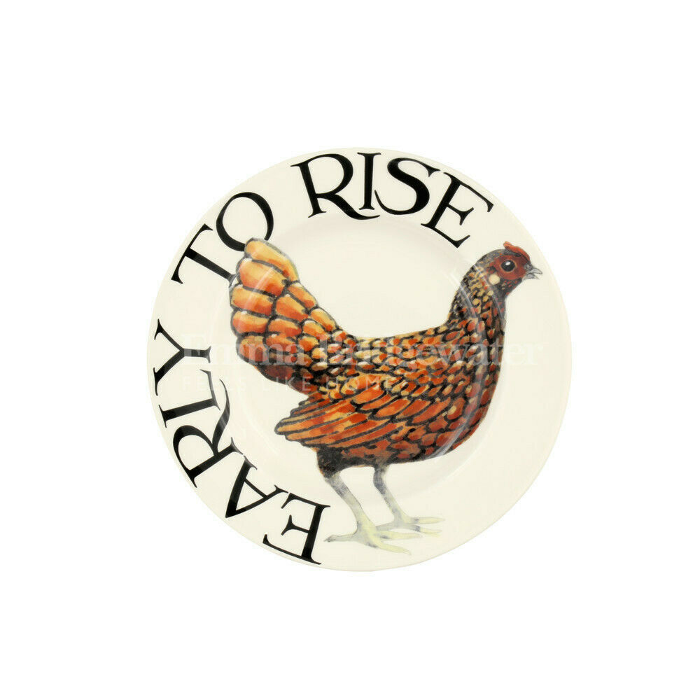 "Emma Bridgewater Rise & Shine Early to Rise 6 1/2"" Plate"