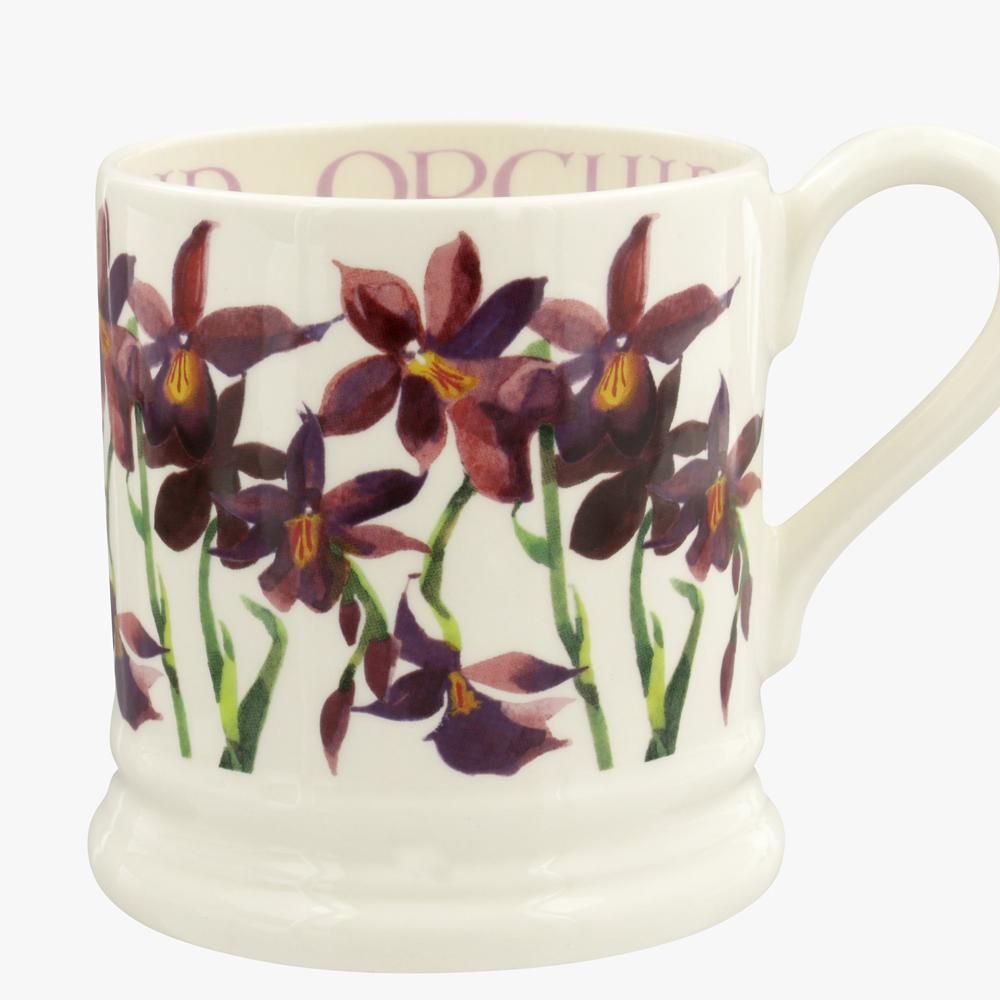Emma Bridgewater Flowers Orchid 1/2 Pint Mug