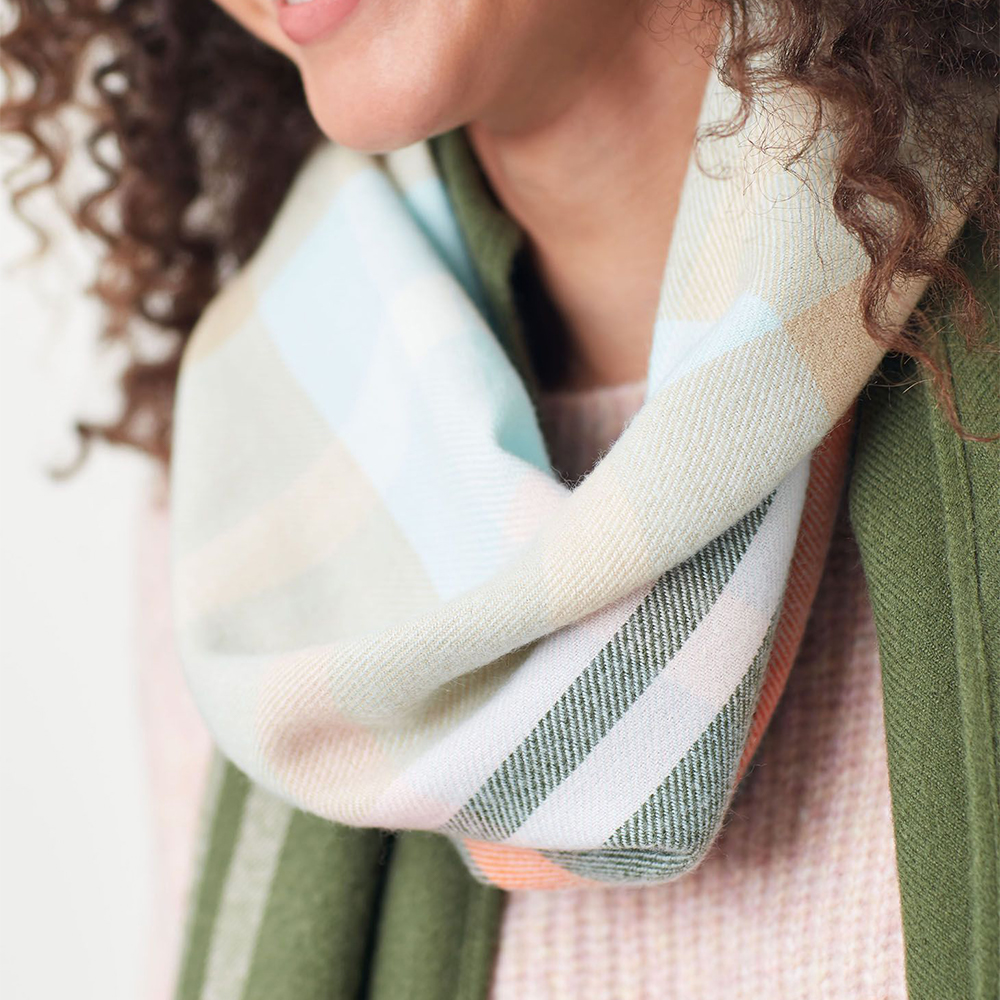Joules Bridey Checked Scarf