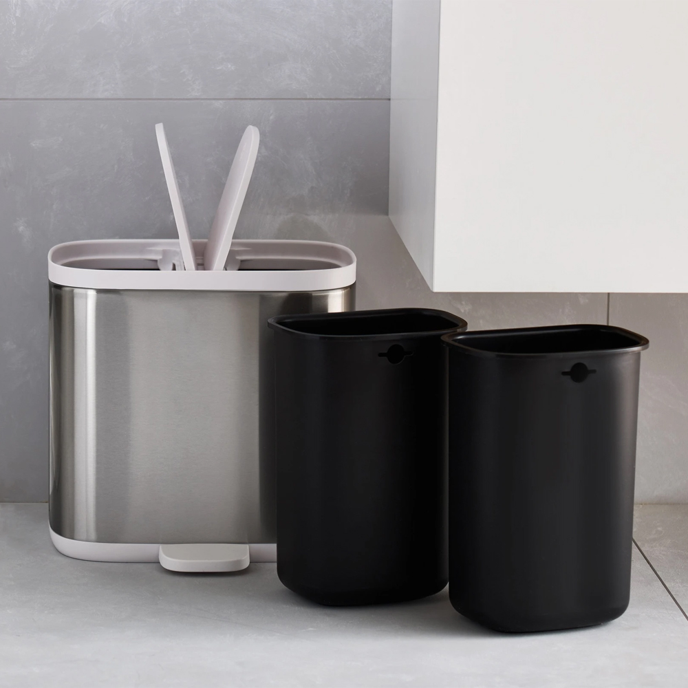 Joseph Joseph Split™ 6L Steel Waste & Recycling Bin