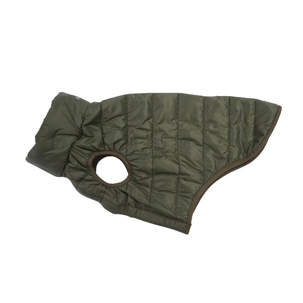 Barbour Dog Baffle Qu OLIVE/XL